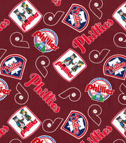 Cooperstown Philadelphia Phillies Cotton Fabric, , hi-res