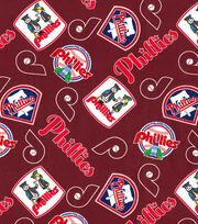Cooperstown Philadelphia Phillies Cotton Fabric, , hi-res
