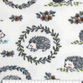Anti-Pill Plush Fleece Fabric-Floral Hedgehog