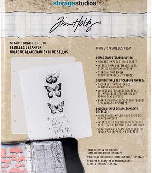 """Tim Holtz Storage Studios Stamp Storage Binder Refills 8/Pkg-7.25""""X10"""""""