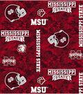 Mississippi State University Bulldogs Fleece Fabric 60\u0022-Digital Camo