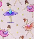 Novelty Cotton Fabric -Ballerinas & Stars