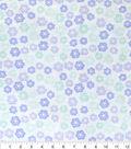 Nursery Flannel Fabric 42\u0022-Lauren Purple Ditzy Flower