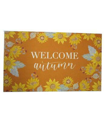 Simply Autumn Door Mat-Welcome Autumn & Sunflower