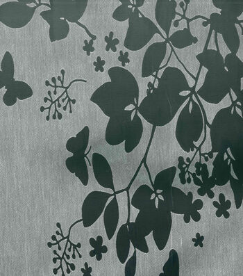 Cape May Fabric -Burnout White Butterfly