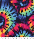 Anti-Pill Plush Fleece Fabric-Tie Dye Exploded Spiral