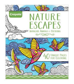 "Crayola Escapes Coloring Book 8""X10""-Nature Escapes"