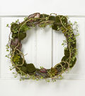 Bloom Room 20\u0027\u0027 Succulent Wreath-Green