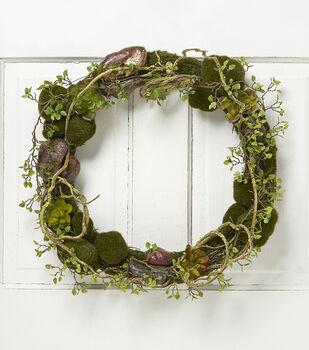Bloom Room 20'' Succulent Wreath-Green