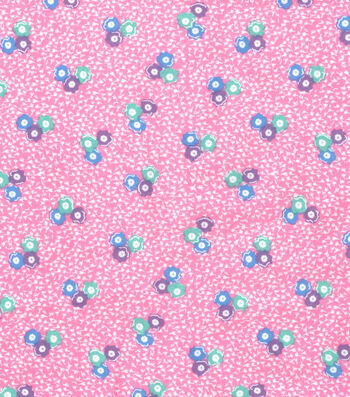 Wide Flannel Fabric -Blossom Floral