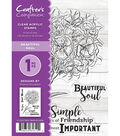 Crafter\u0027s Companion Sheena Douglass Clear Acrylic Stamps-Beautiful Soul