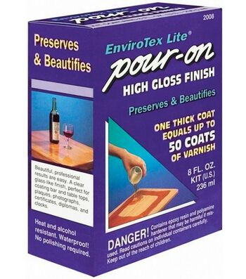 Envirotex Lite Pour On 8 fl. oz. High Gloss Finish