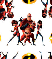 Disney Incredibles 2 Cotton Fabric 43''-Action, , hi-res