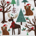 Anti-Pill Plush Fleece Fabric-Winter Woodland Friends