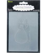 "Embossing Folder 4.25""X5.75""-Bride/Groom, , hi-res"