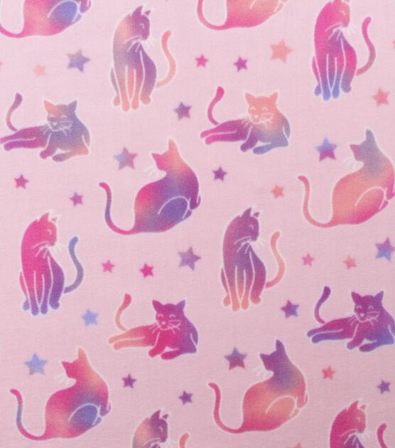 Anti Pill Plush Fleece Fabric Tie Dye Kitty Pink, , hi-res, image 2