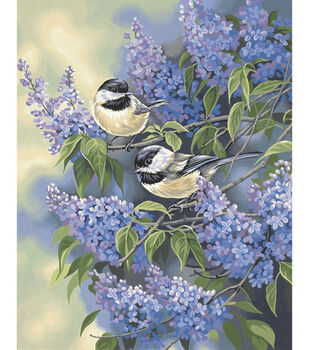 Dimensions Paint By Number Kit Chickadees & Lilacs