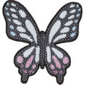 Simplicity Butterfly Iron-on Applique with Sequins-Multi