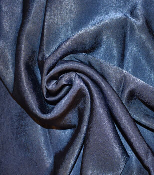Silky Sanded Satin Fabric -Navy