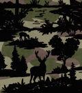 Snuggle Flannel Fabric -Camo Wilderness Scene