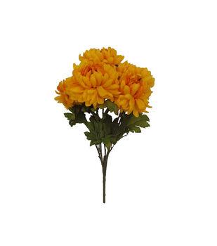 Blooming Autumn Mum Bush-Yellow