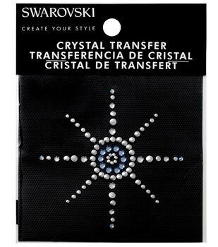 Swarovski Create Your Style Starburst Crystals Iron-on Transfer-Blue
