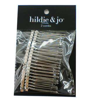 hildie & jo 2 pk Wire Hair Combs-Silver