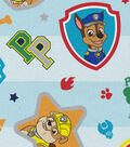 Nick Junior Paw Patrol Cotton Fabric -Pups in Action