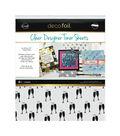 Deco Foil Clear Toner Sheets 8.5\u0022X11\u0022 4/Pkg-Cheers