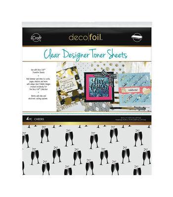"""Deco Foil Clear Toner Sheets 8.5""""X11"""" 4/Pkg-Cheers"""