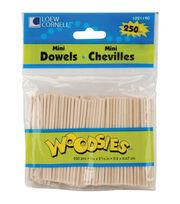 """Woodsies 250pk Mini Dowels 5/64""""x2-5/8"""", , hi-res"""