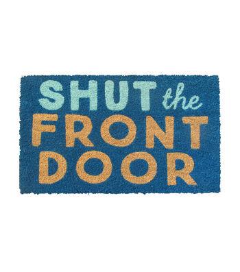Hello Spring Gardening Coir Mat-Shut The Front Door