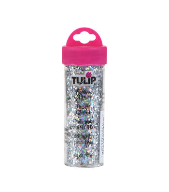 Tulip Fashion Glitter Silver Medium Hologram