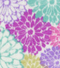 Anti-Pill Fleece Fabric 59\u0022-Floral Lavender