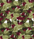 Holiday Cotton Fabric -Packed Hollys