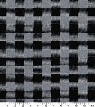 Keepsake Calico Cotton Fabric-Gray/Black Buffalo Check