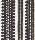 Genevieve Gorder Multi-Purpose Decor Fabric 54\u0027\u0027-Onyx Ancient Stripe