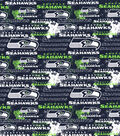 Seattle Seahawks Cotton Fabric -Distressed