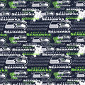Seattle Seahawks Cotton Fabric-Distressed