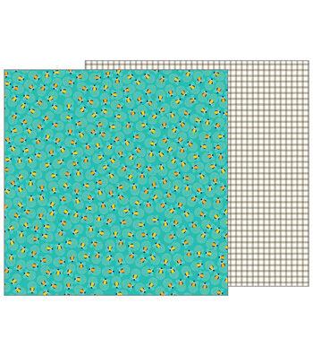 Pebbles Jen Hadfield Patio Party 12''x12'' Double-Sided Cardstock-Glow