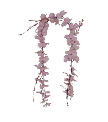 Fresh Picked Spring 66'' Dogwood Garland-Pink