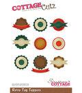 CottageCutz Die-Retro Tag Toppers .7\u0022 To 2.6\u0022