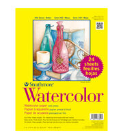 "Strathmore Watercolor Paper Classpack 9""X12""-140lb Cold Press 24 Sheets, , hi-res"