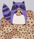 No Sew Fleece Throw 48\u0022-Raccoon Cookies