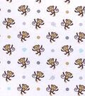 Nursery Cotton Fabric 43\u0022-Monkey Tossed