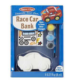 Melissa & Doug Decorate-Your-Own Race Car Bank Craft Kit