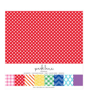 Park Lane 40 pk 12''x12'' Value Papers-Pattern Primary
