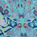 Fast Fashion Bubble Crepe Knit Fabric-Sky Diamond Patch