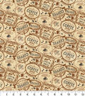 Novelty Cotton Fabric-Coffee Brew