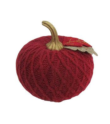 Simply Autumn Small Sweater Knit Pumpkin-Burgundy